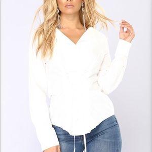 Fashion Nova Jenny From Cali White Top
